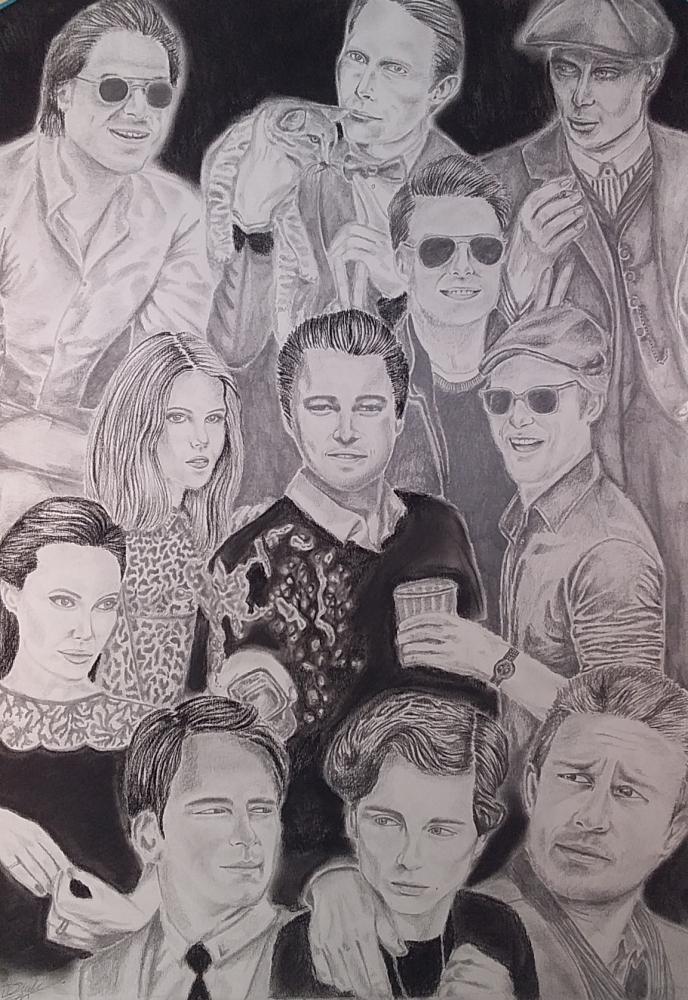 Timothée Chalamet, Gaspard Ulliel, Mads Mikkelsen, Cillian Murphy, Angelina Jolie, Brad Pitt, Leonardo DiCaprio par mngha